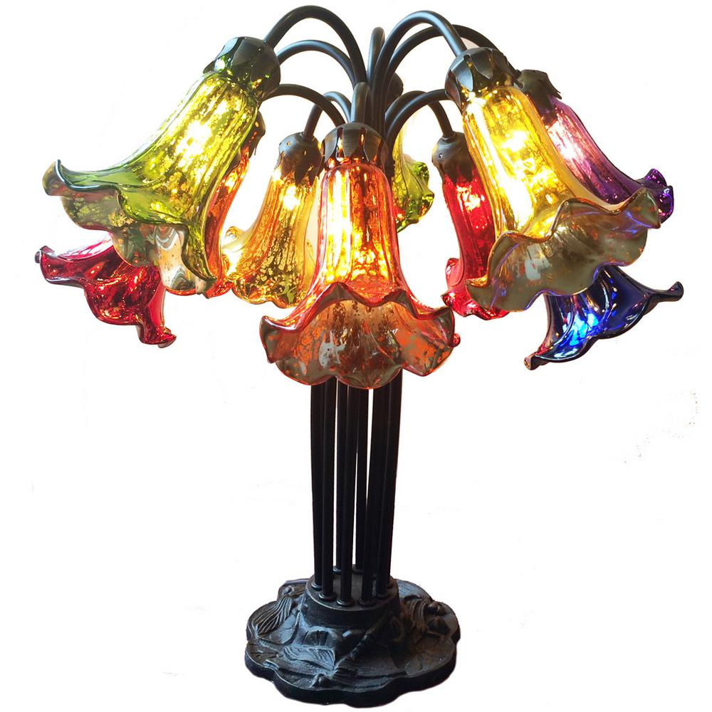River Of Goods 21 In Rainbow Mercury Glass Table Lamp
