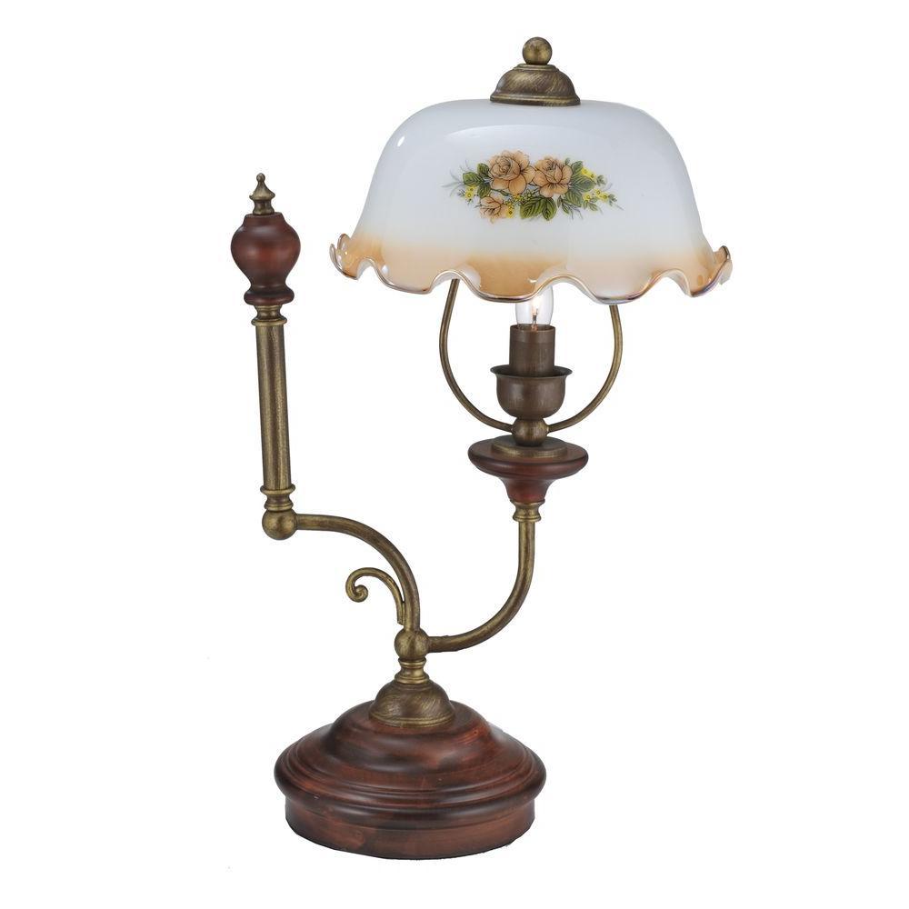 Illumine 1 Light Victorian Antique Rose Accent Lamp