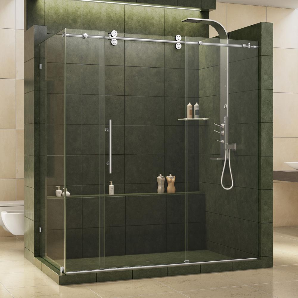 Enigma 36 in. x 72-1/2 in. x 79 in. Fully Frameless