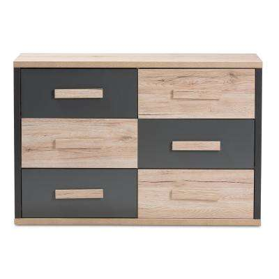 Pandora 6-Drawer Brown Chest