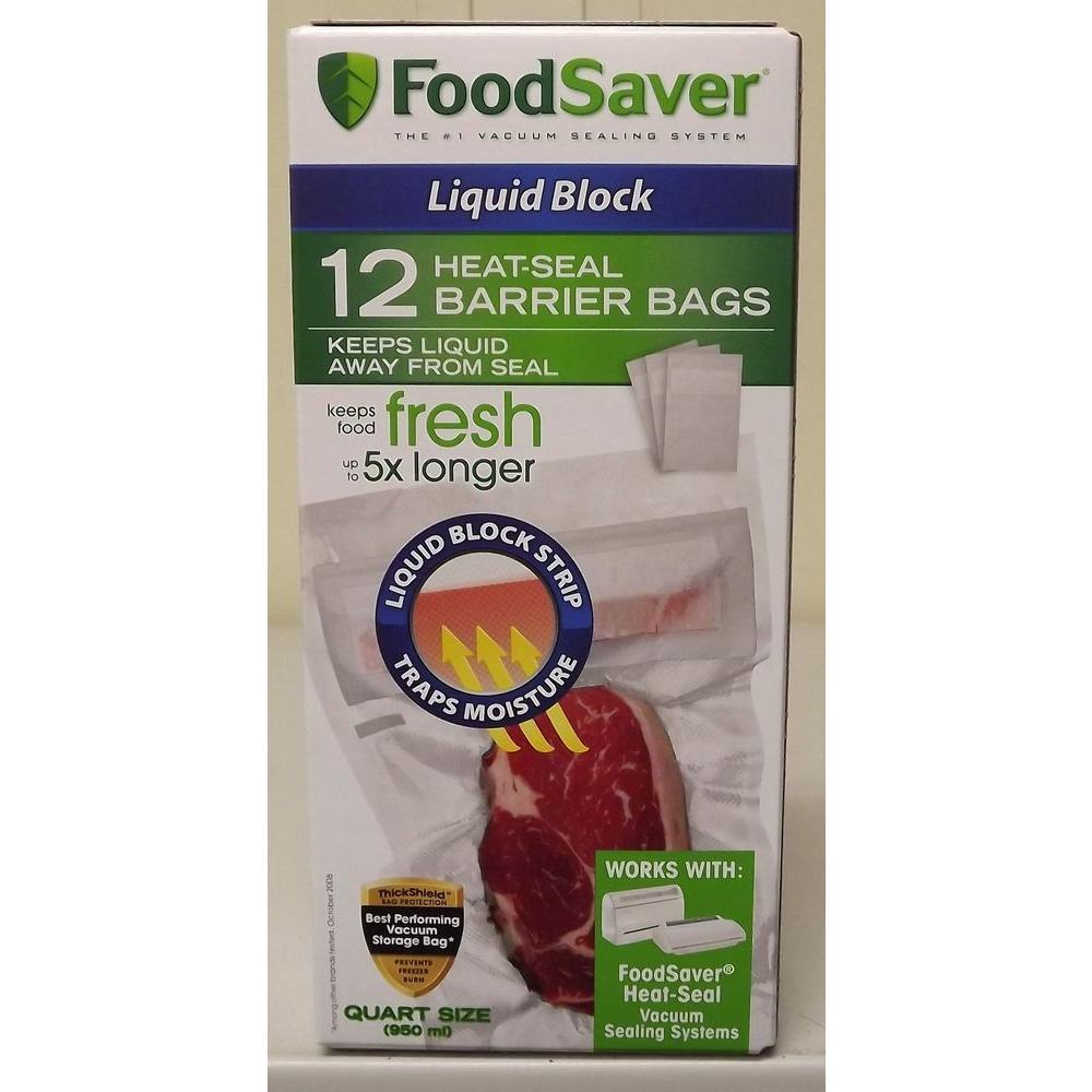 FoodSaver 20-Count Quart Bags-DISCONTINUED