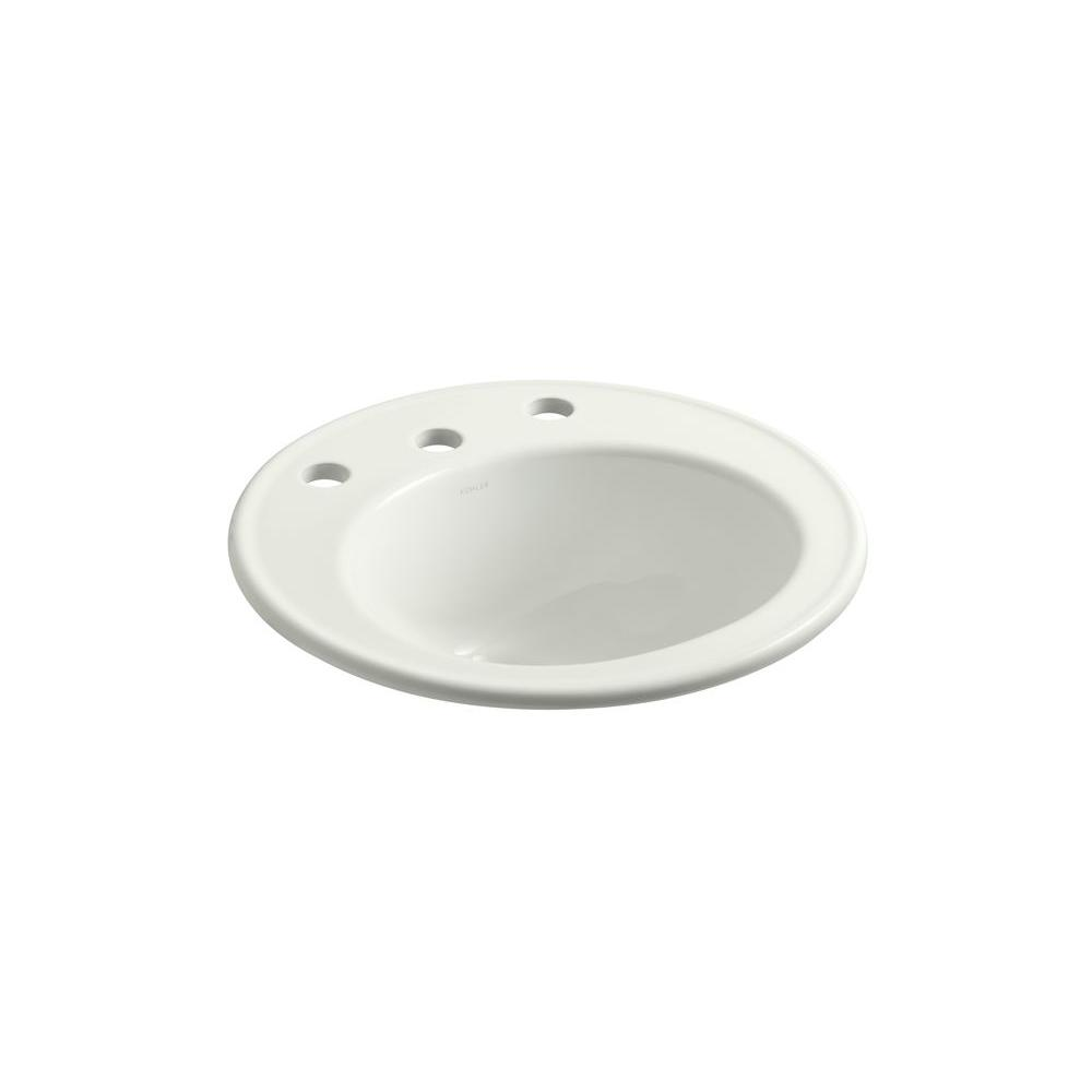 Brookline Drop-In Vitreous China Bathroom Sink in Dune with Overflow Drain