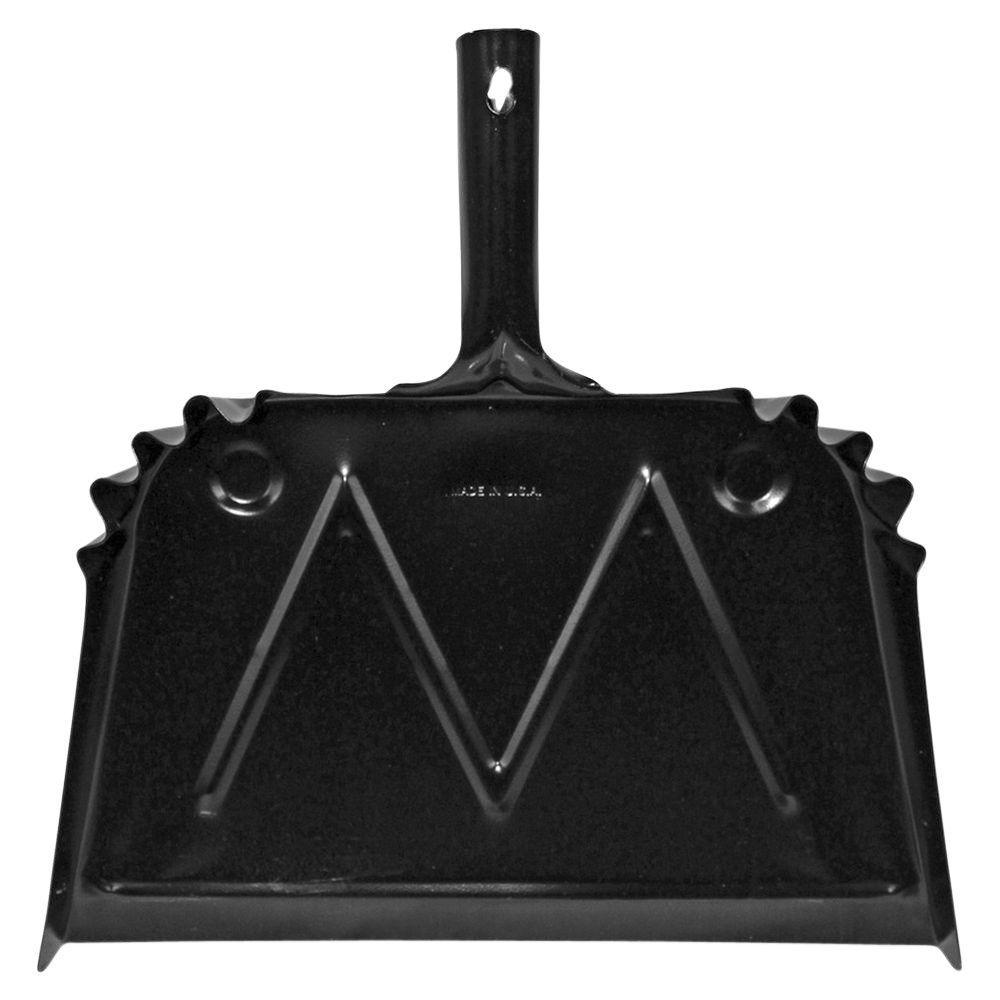 16 in. W Metal Black Scope Dust Pan