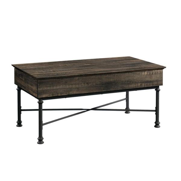 Canal Street 41.299 in. Carbon Oak Rectangle Engineered Wood Lift-Top Coffee Table