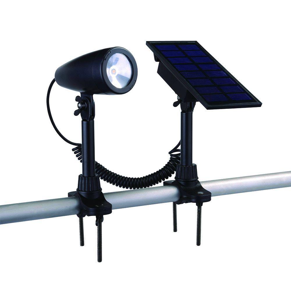 Black Solar LED Flag Light