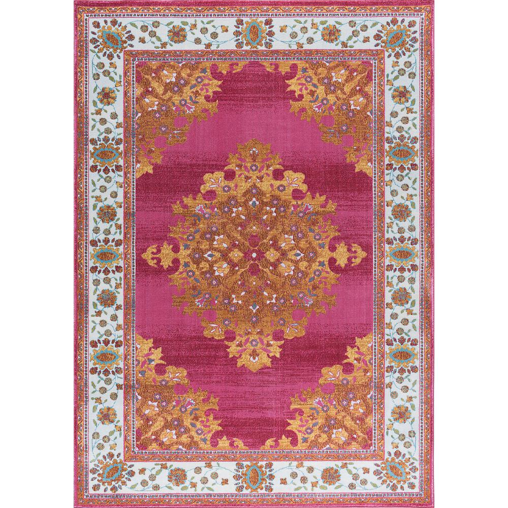 Tayse Rugs Aria Pink 5 Ft. 3 In. X 7 Ft. 3 In. Area Rug