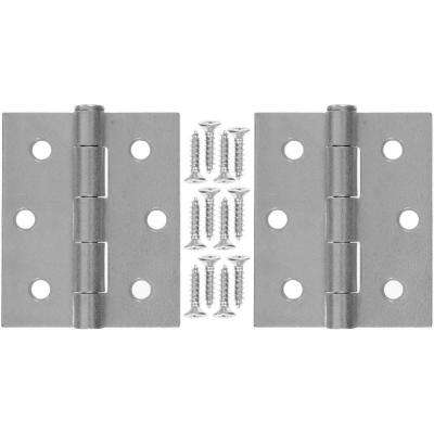 3 in. x 2.5 in. Galvanized Steel Hinge (1-Pair)