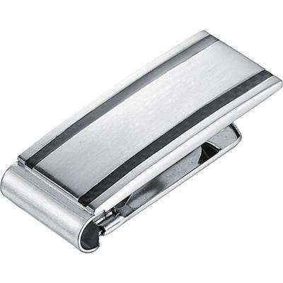 Dominick Carbon Fiber Polished Stainless Steel Money Clip