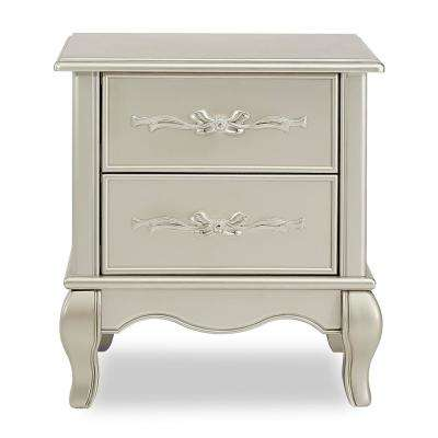 Aurora 2-Drawer Gold Dust Nightstand