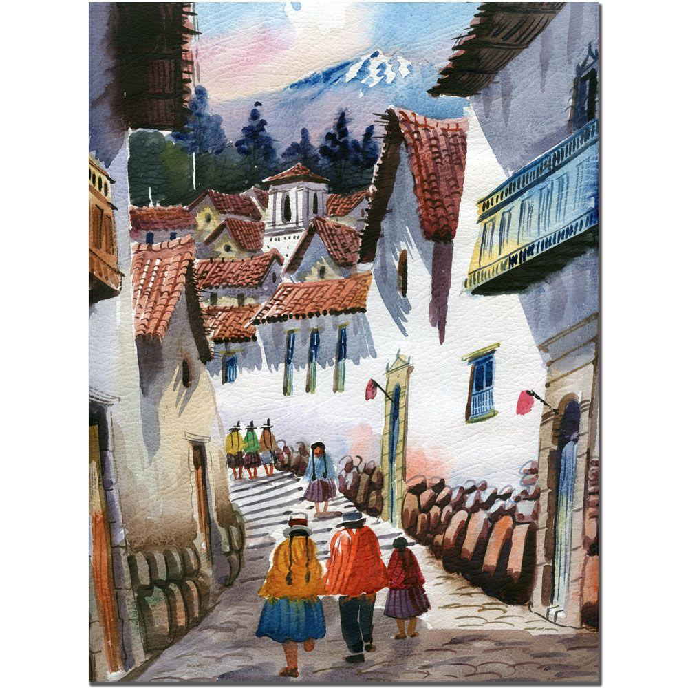 24 in. x 32 in. Cuzco IV Canvas Art