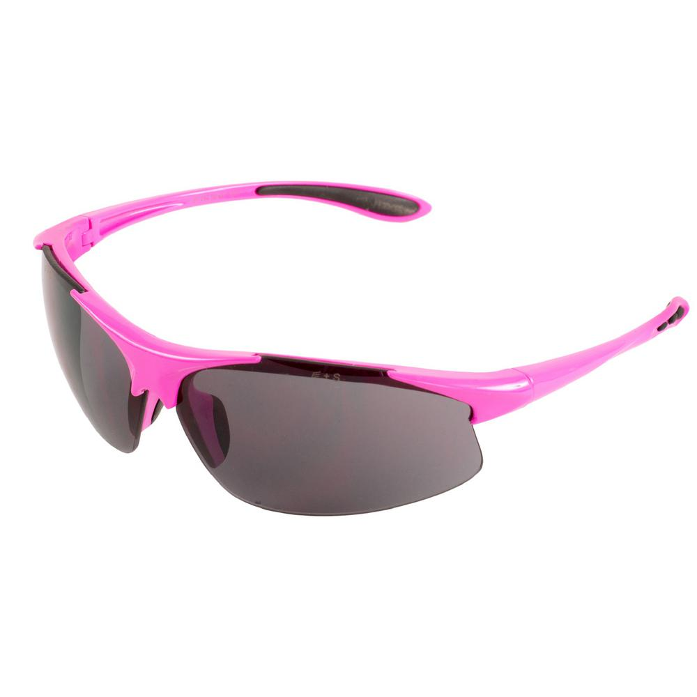 Ella Ladies Eye Protection, Pink Frame/Gray Lens