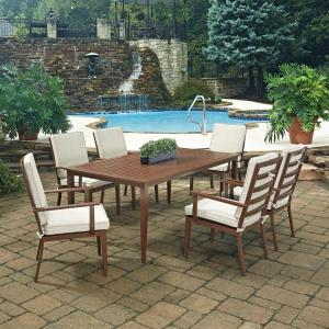 Home Styles Key West Chocolate Brown 7-Piece Extruded Aluminum Outdoor Dining Set with... by Home Styles