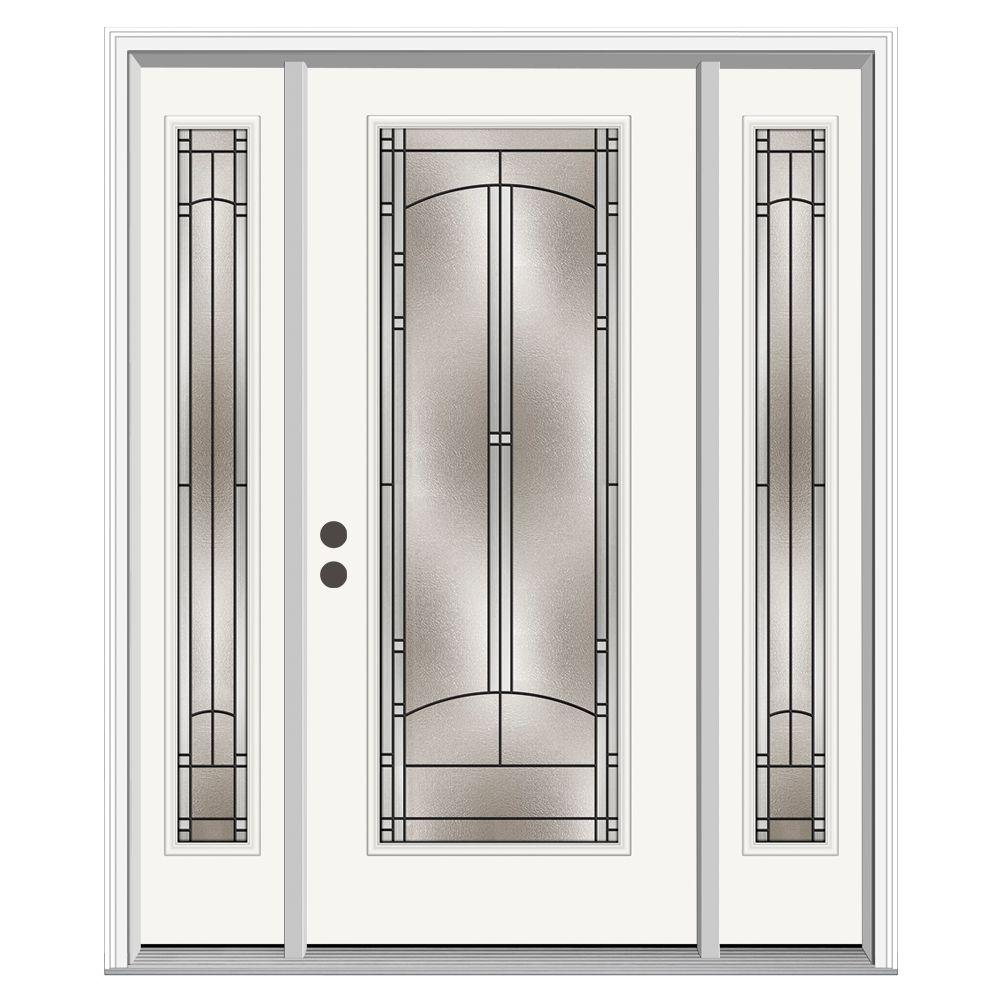Jeld wen 66 in x 80 in full lite idlewild primed steel for White front door with glass