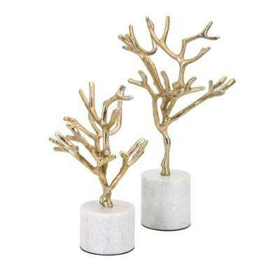 Concepts Eclipse Trees on Marble Base (Set of 2)