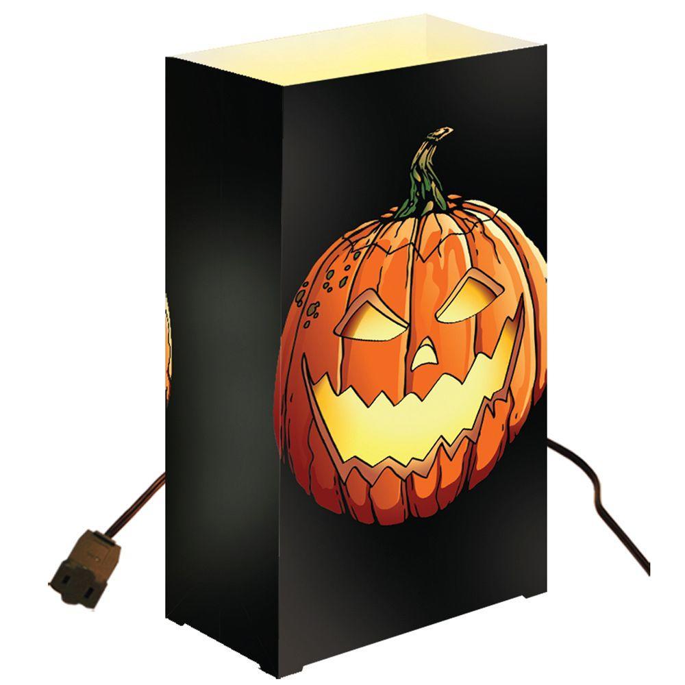 Lumabase Electric Luminaria Kit -Jack-O'-Lantern (Set of 10)