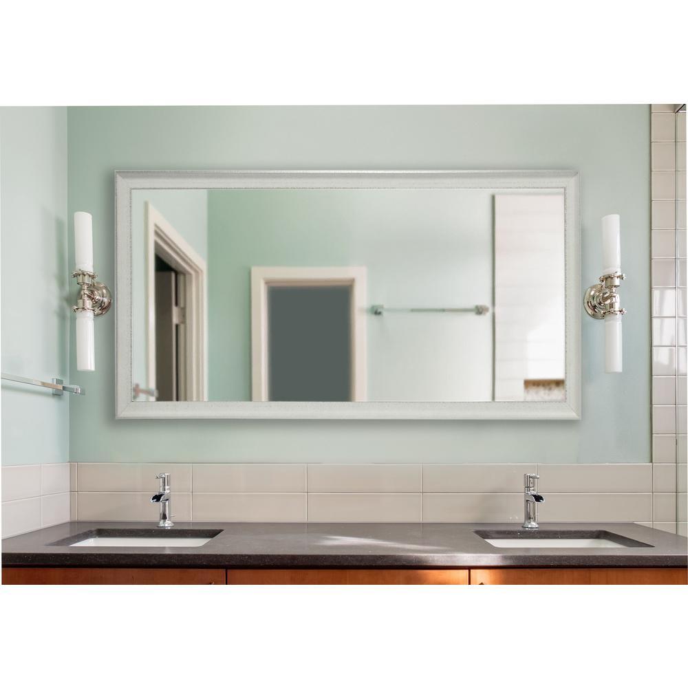 Vintage White Double Vanity Mirror
