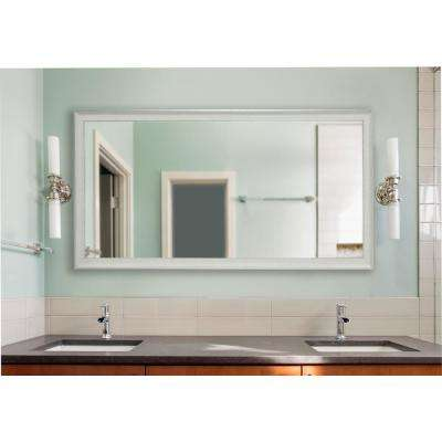 76.5 in. x 37.5 in. Vintage White Extra Large Non-Beveled Vanity Mirror