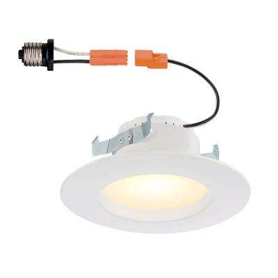 4 in. White Integrated LED Recessed Trim, 2700K