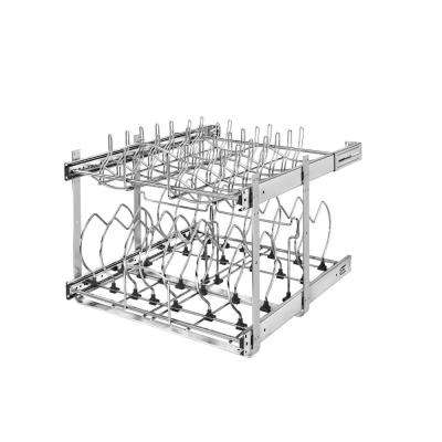 18.13 in. H x 20.75 in. W x 22 in. D Pull-Out Two-Tier Base Cabinet Cookware Organizer