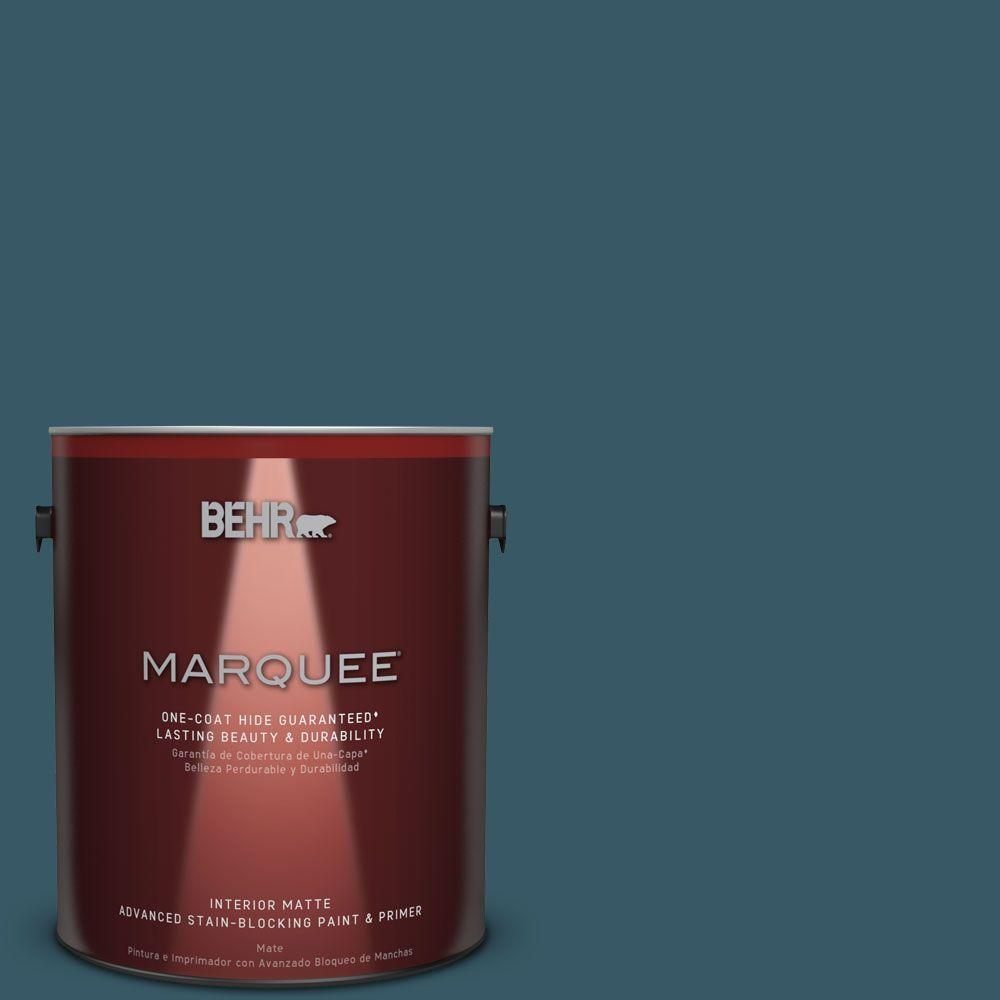 1 gal. #S460-7 Deep Breath One-Coat Hide Matte Interior Paint
