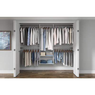 Essential 60 in. W - 96 in. W White Wood Closet System