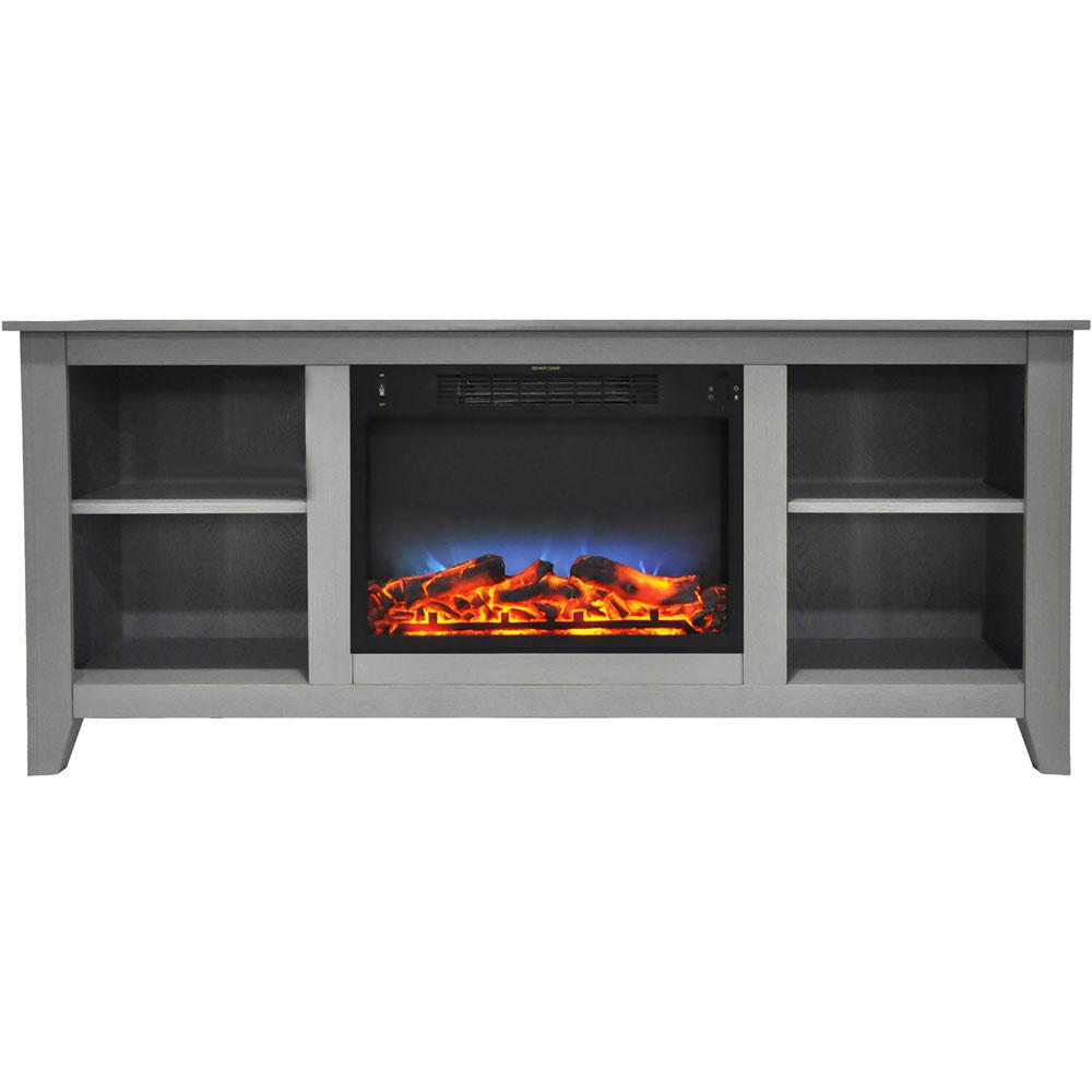 Santa Monica 63 in. Freestanding Electric Fireplace and Entertainment Stand in