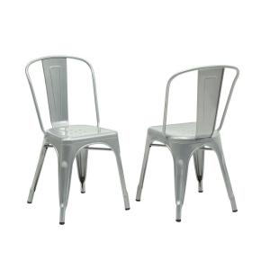 Exceptional Internet #300638772. Monarch Specialties Silver Galvanized Metal Dining  Chair ...