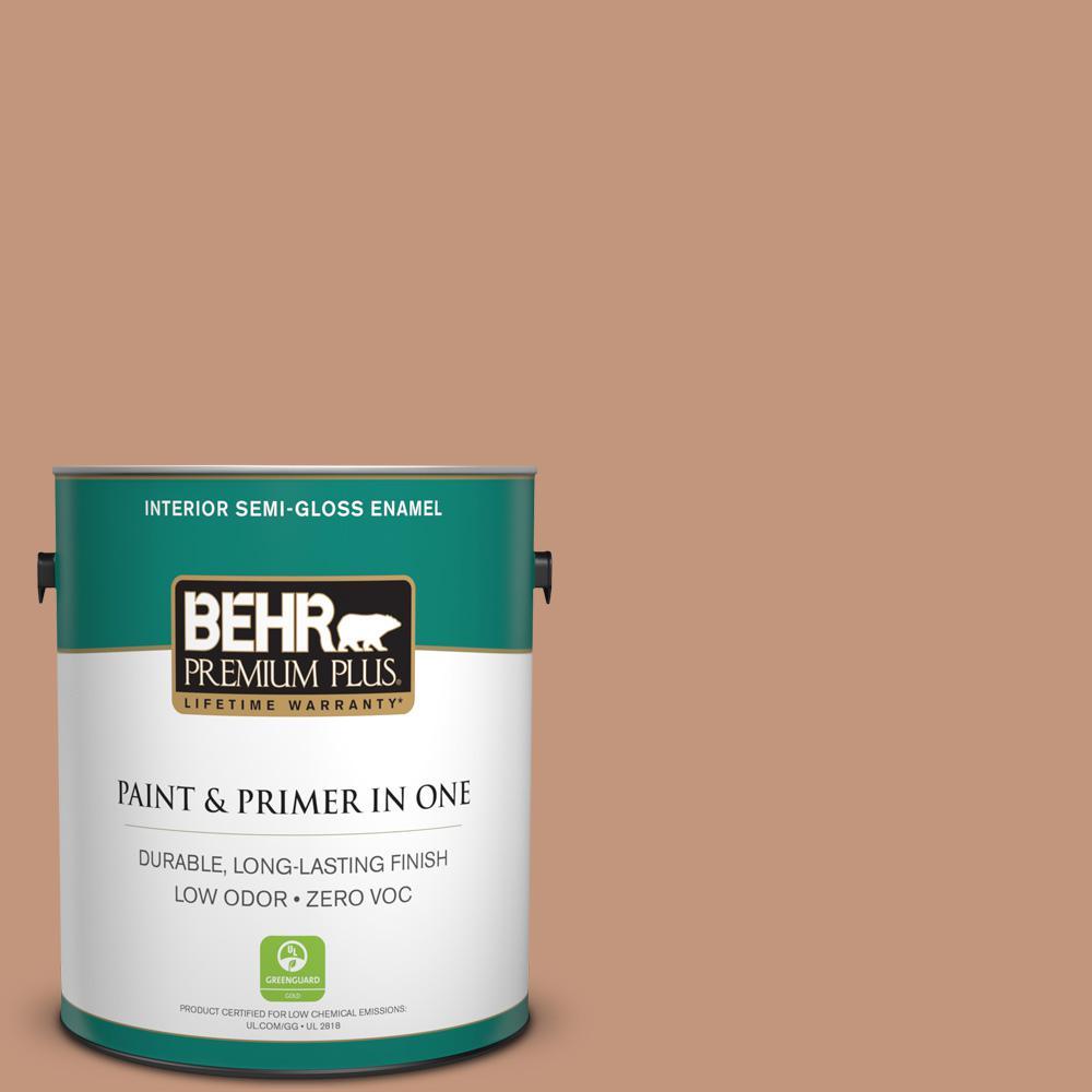 1-gal. #ECC-50-3 Brick Path Zero VOC Semi-Gloss Enamel Interior Paint