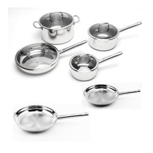 EarthChef Boreal 10-Piece Stainless Steel Cookware Set