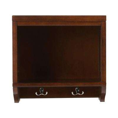 Mudroom 20 in. L Sequoia Wood Open Wall Storage Shelf with Hooks