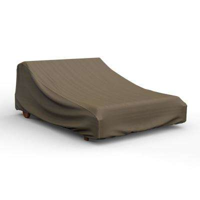 NeverWet Hillside Black and Tan Double Patio Chaise Cover