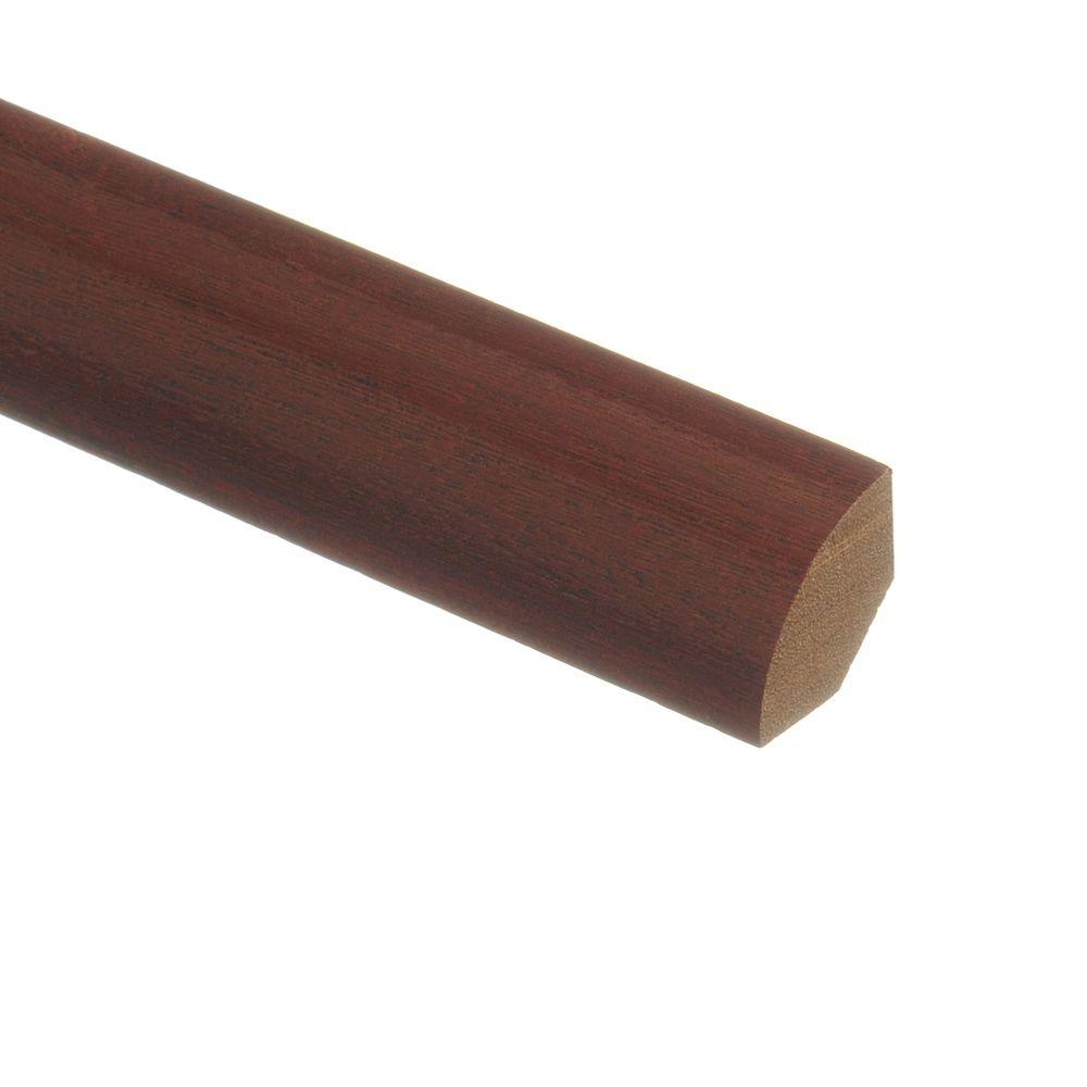 Zamma santos mahogany 3 4 in thick x 3 4 in wide x 94 in for Hardwood floors quarter round