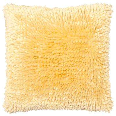 Butter Chenille 18 in. x 18 in. Mick Yellow Decorative Pillow