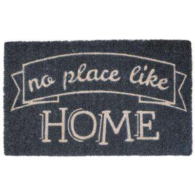 Like Home 17 in. x 28 in. Non-Slip Coir Door Mat