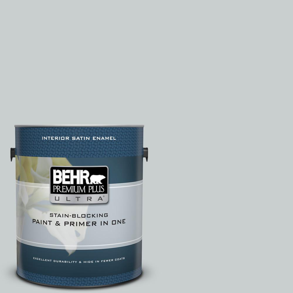 Behr Premium Plus Ultra 1 Gal 720e 2 Light French Gray Satin Enamel
