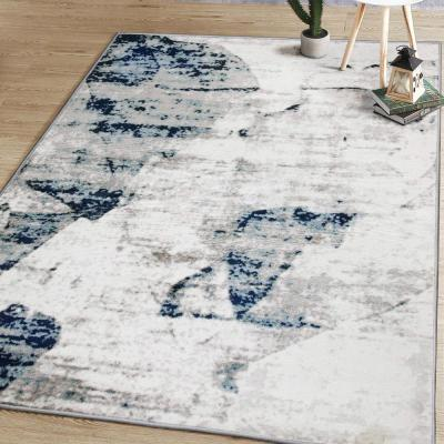 Weasley Modern Abstract Gray/Teal 5 ft. x 7 ft. Area Rug