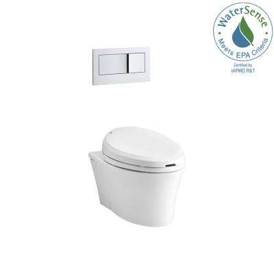 Veil Wall-Hung 1-piece 0.8/1.6 GPF Dual Flush Elongated Toilet in White