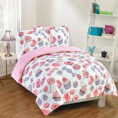 Sweet Treats 3-Piece Pink Full Comforter Set