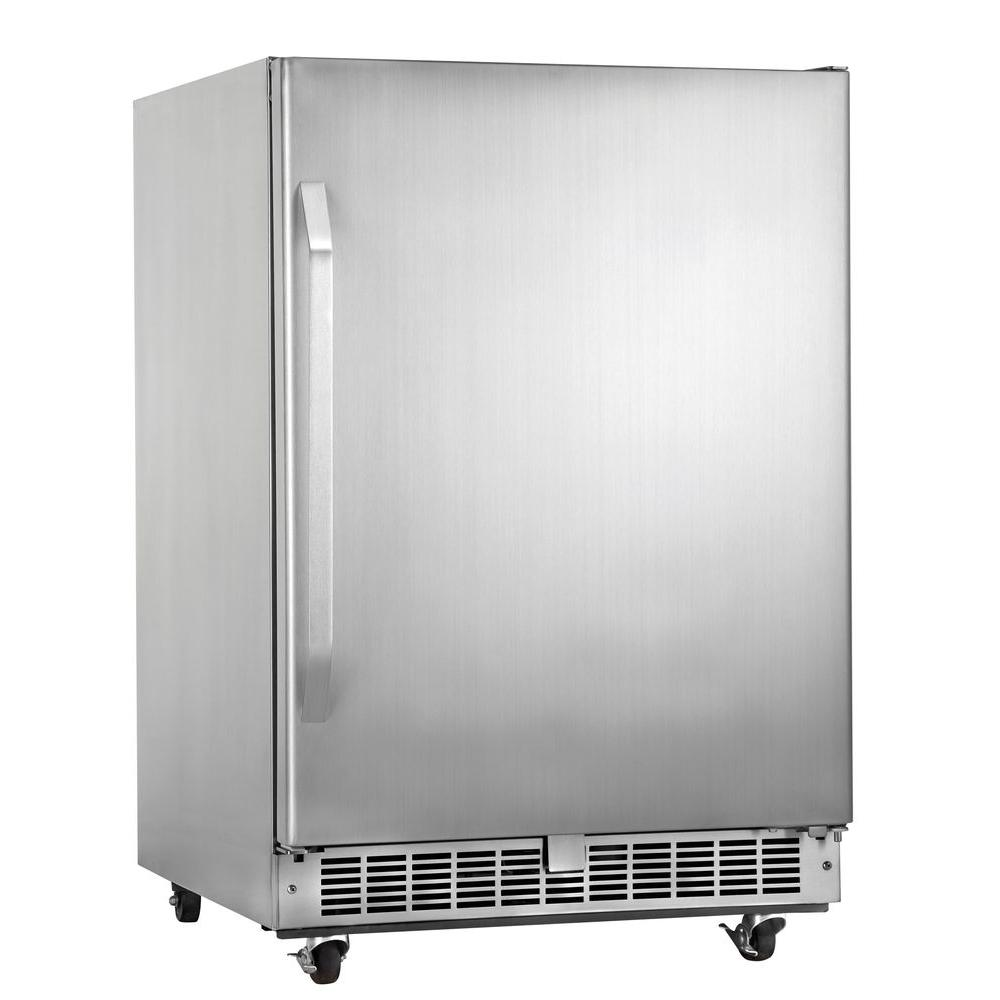 Danby Silhouette Select Outdoor Rated 24 in. 5.4 cu. ft. Mini Refrigerator in Stainless Steel