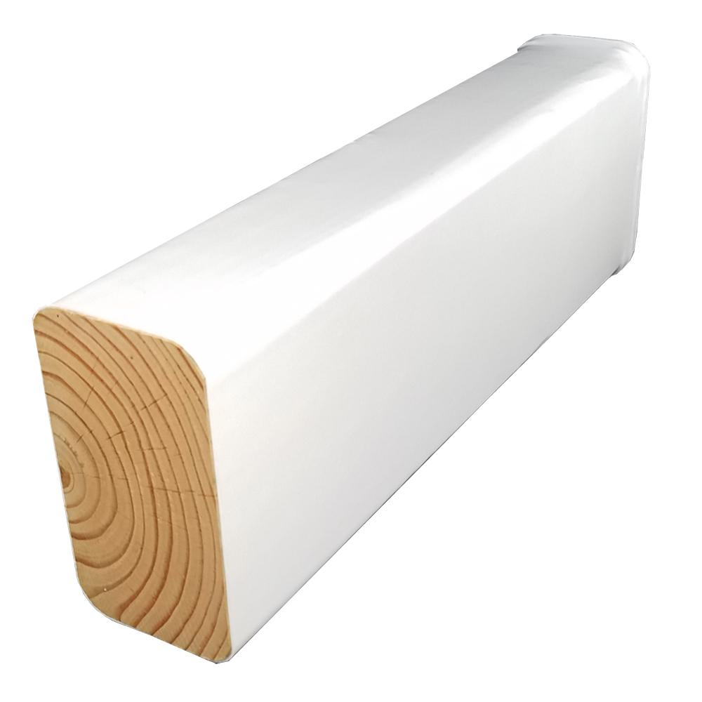 Woodguard 4 in. x 6 in. x 8 ft. #2 Doug Fir Polymer Coated White ...