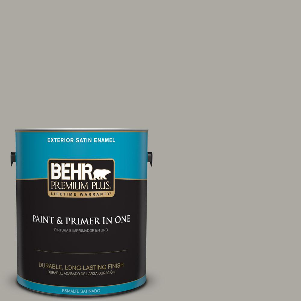 1-gal. #N360-3 Still Gray Satin Enamel Exterior Paint