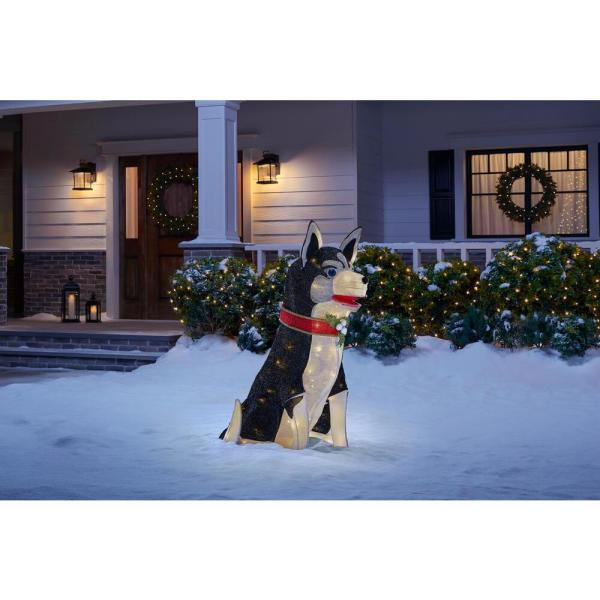 Home Accents Holiday 3 Ft Adorable Dogs Led Husky Ty607 2014 The Home Depot