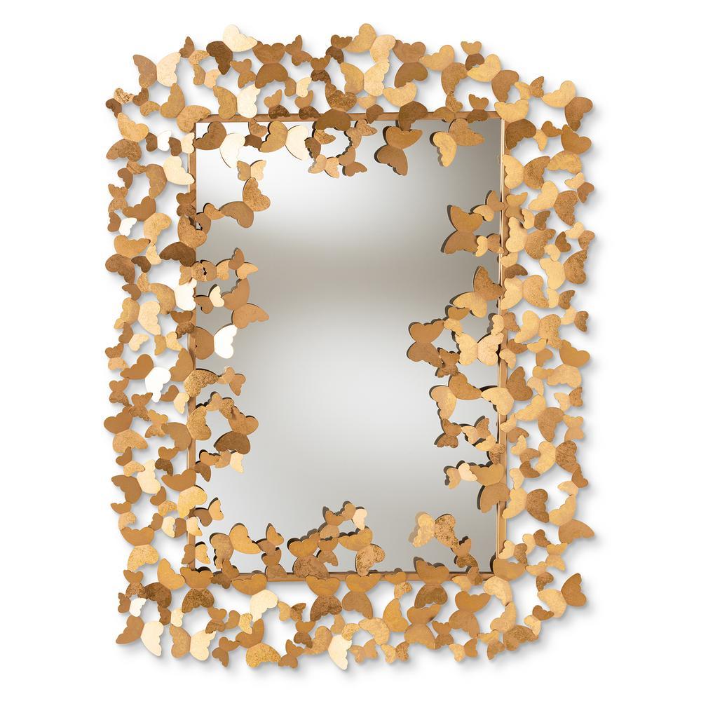 Idalia Antique Gold Wall Mirror