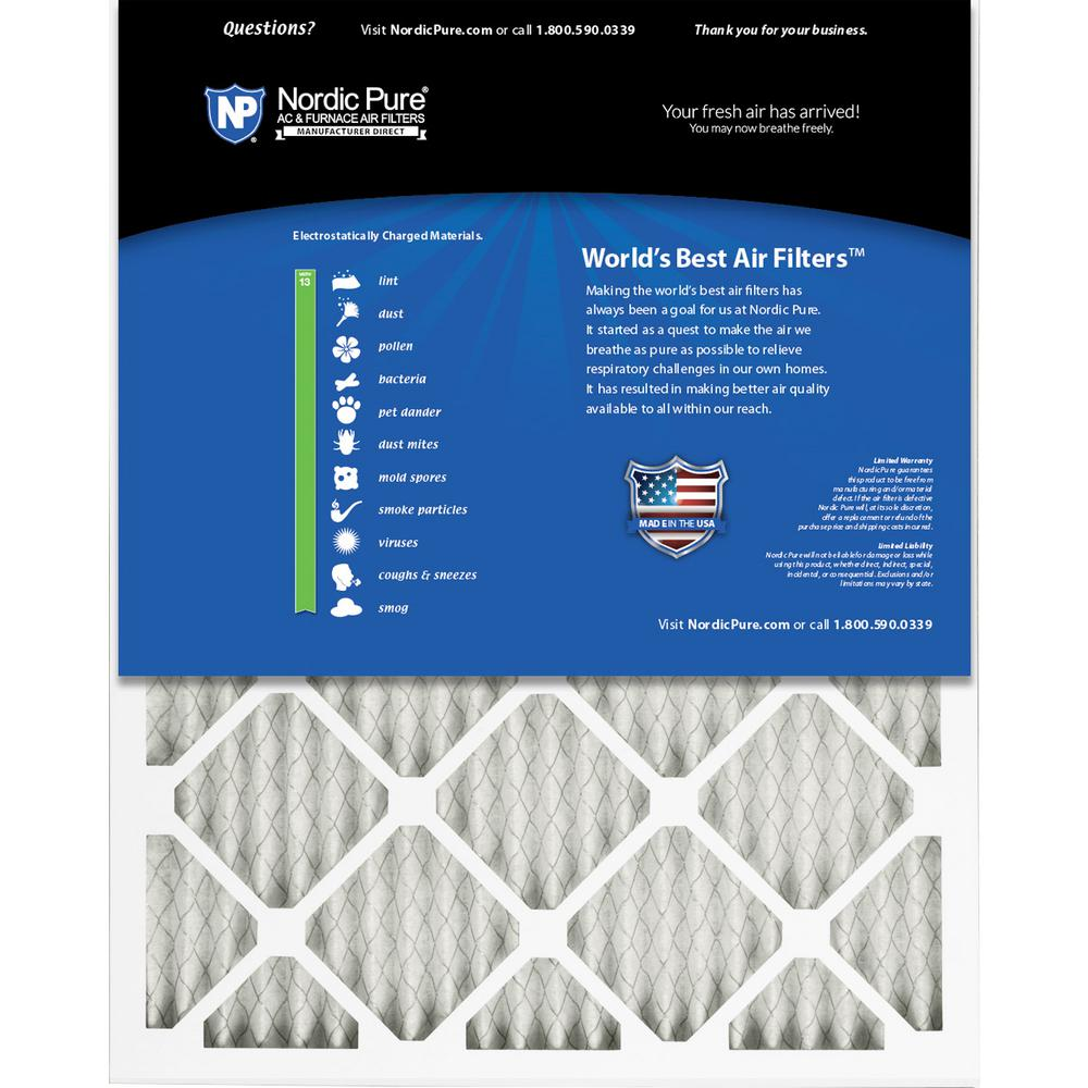 Nordic Pure 18x20x1 MERV 11 Pleated AC Furnace Air Filters 6 Pack