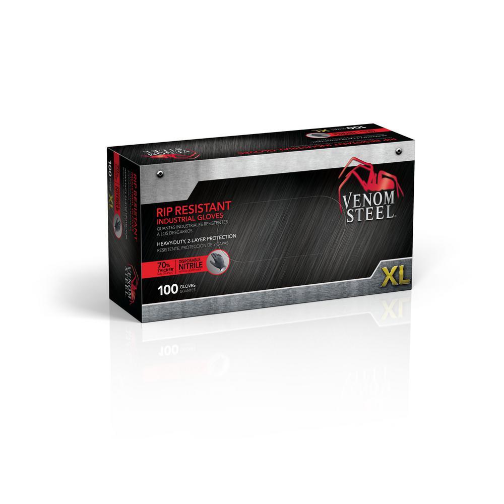 Heavy Duty Nitrile Gloves, XL (100 per Box)