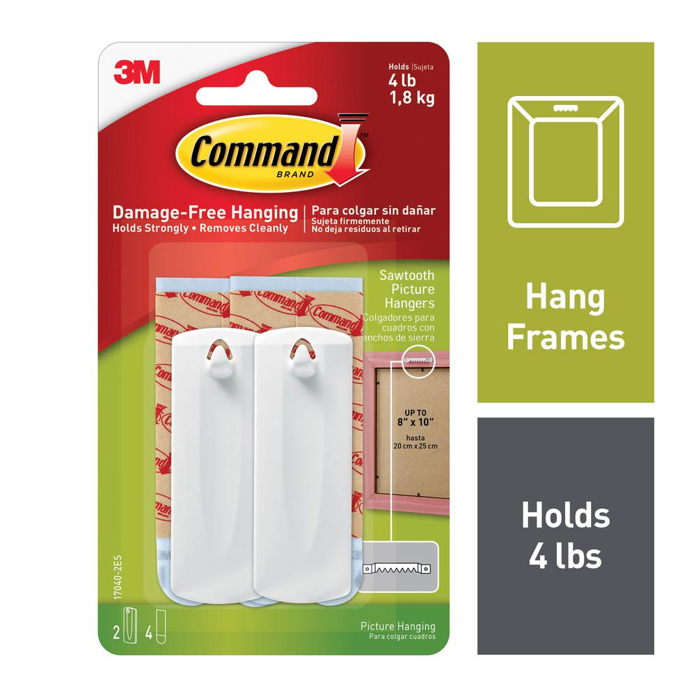 Command Sawtooth Picture Hanger Value Pack (2 Hooks dd905a997de34