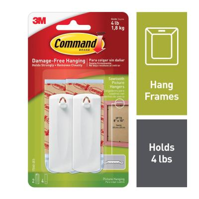 Sawtooth Picture Hanger Value Pack (2 Hooks, 4 Strips)