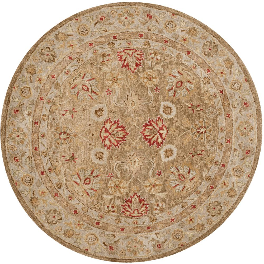 Safavieh Antiquity Brown/Beige 3 ft. 6 in. x 3 ft. 6 in. Round Area Rug