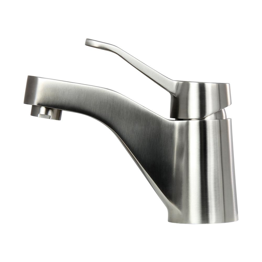 Boann clara 5 4 in single hole single handle bathroom faucet in stainless steel bnybf m01 the for Stainless steel bathroom faucet