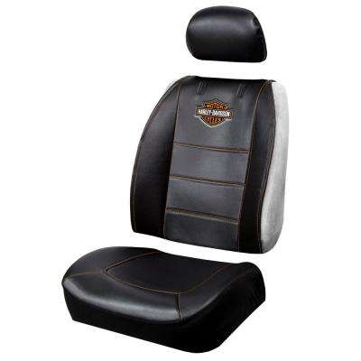 Harley-Davidson 26 in. x 22 in. x 0.5 in. Design Heavy-Duty Sideless Seat Cover with Cargo Pocket (3-Piece)